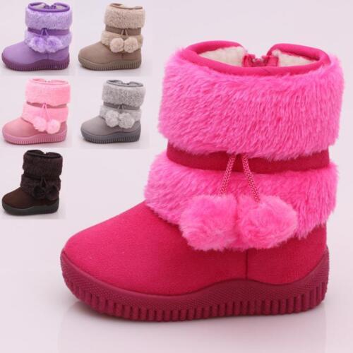 2b9f1eb2b598 Süße Kinder Baby Mädchen Jungen Winter Schuhe Winterstiefel Boots warm  gefüttert