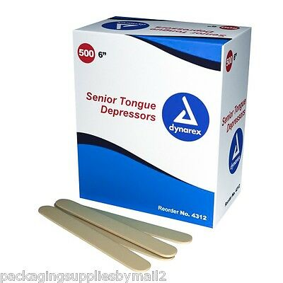 "Tongue Depressors Wooden Non-Sterile 6"" x 3/4"" 500 Per Box - MS85510"