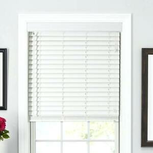 """White faux wood blinds, 2"""""""