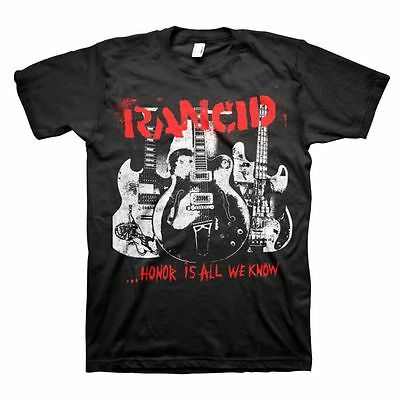 RANCID - Honor Is All We Know - T SHIRT S-M-L-XL-2XL Brand New Official T Shirt