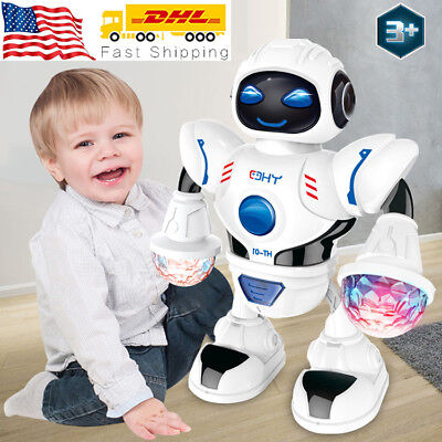 Robot Toys For Kids (Toys for Boys Electric Walking Robot LED Lights Musical Cool Baby Kids Xmas)