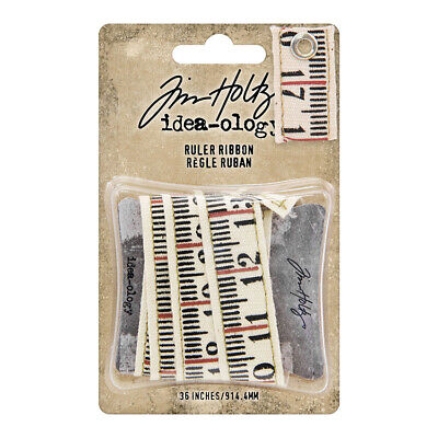 Tim Holtz Idea-ology Collection Ruler Ribbon - 2 - One Yard TH93955  2019