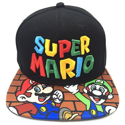 Super Mario Bros Snapback Sport Hip Hop Baseball Cap Hat Mütze Kappe BaseCap  ()