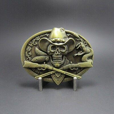Nevermore Edgar Allan Poe Fierce Big Skull Pewter Belt Buckle B93 Alchemy Gothic