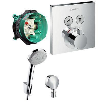 Hans Grohe Shower Select Thermostat Unterputz Wannen Armatur Set UP Croma 100