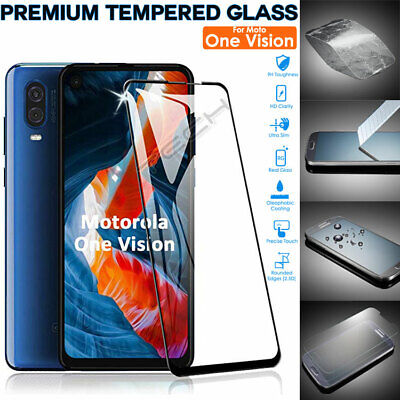 100% Genuine TEMPERED GLASS Screen Protector Cover for Motorola Moto One Vision