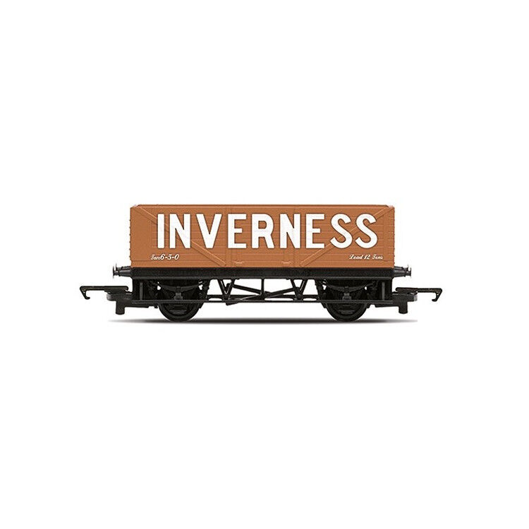 Hornby 'Inverness' Coal Beige Brown 7 Plank LWB Freight Wago