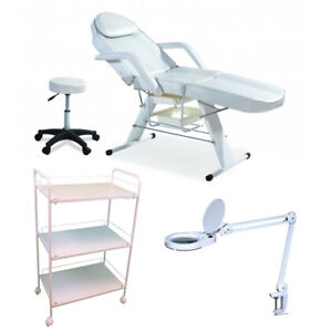 Eyelash Extensions Table + Chair + Lamp + Trolley Combo