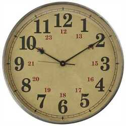 Norwood Iron & Glass Wall Clock By Park Designs.