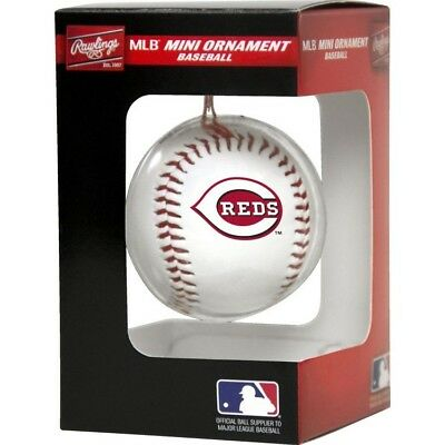 NEW Cincinnati Reds Rawlings Mini Baseball Christmas Tree Ornament - Baseball Christmas