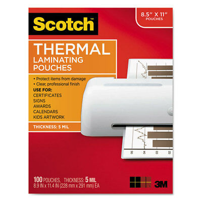 Scotch Letter Size Thermal Laminating Pouches 5 Mil 11 12 X 9 100pack