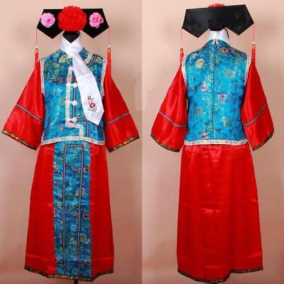 Chinese Style Qing Dynasty GeGe Princess Halloween Costumes