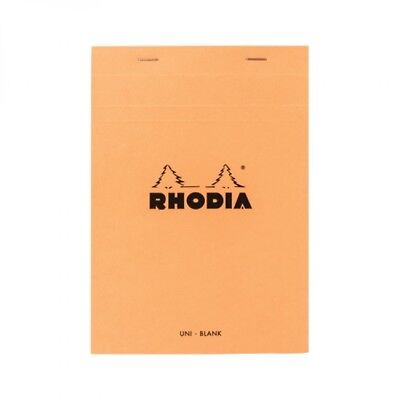 Rhodia Staplebound - Notepad - Orange - Blank - 80 Sheets - 6 X 8.25 - R16000