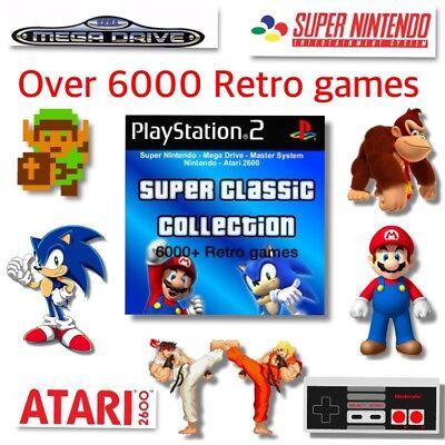 6000+ RETRO GAMES NINTENDO SNES NES SEGA MEGADRIVE ATARI 2600 CASTLEVANIA