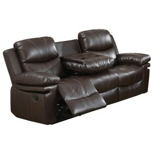 Bonded Leather Reclining Sofa and Loveseat combo - Virtually New