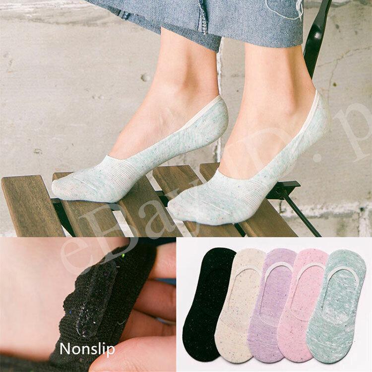 Womens Socks 5-10 Pairs Retro Color Invisible Nonslip Boat Liner low Cut Socks
