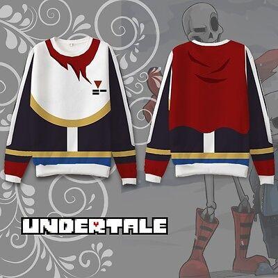 Game Undertale Papyrus Cosplay Hoodie Coat Sweatshirt Winter Red Otaku Jacket