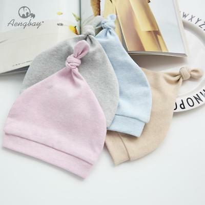 US Knot Baby Newborn Infant Toddler Cotton Organic High Quality Hat Girl Boy