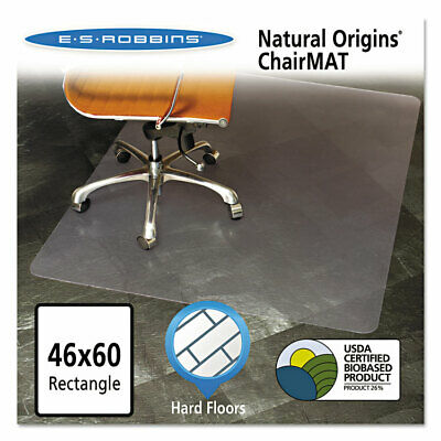 Es Robbins Natural Origins Chair Mat For Hard Floors 46 X 60 Clear 143022