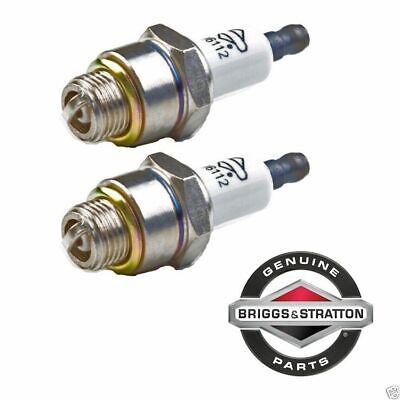 2 Pack Genuine Briggs & Stratton 796112 Spark Plug Fits Champion J19LM RJ19LM