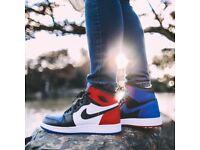 Air Jordan 1 red blue