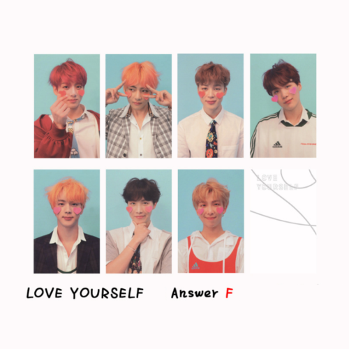 KPOP BTS Bangtan Boys Album LOVE YOURSELF Answer Photo Card Lomo Card PhotoCard