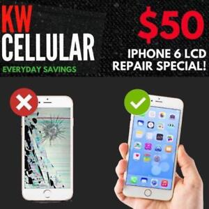 $50 iPhone 6 Screen Repair & More & KW Cellular!
