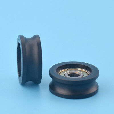 2pcs U Nylon Plastic Embedded 626 Groove Ball Bearings 62510mm Guide Pulley