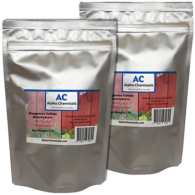 2 Pounds - Manganese Sulfate Powder - 32 Mn
