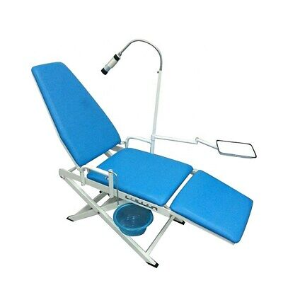 Dental Mobile Chair Portable Folding Chair With Led Cold Light Cuspidor Tray