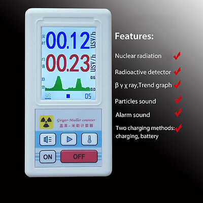 Geiger Counter Nuclear Radiation Detector Dosimeter Tester Beta Gamma X-ray