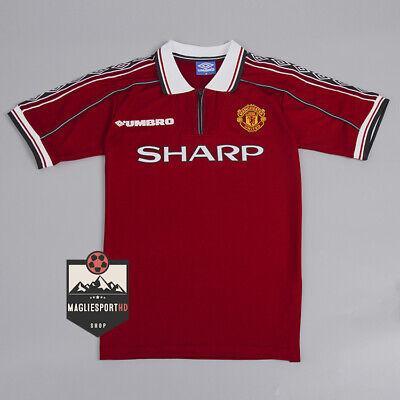 Maglia Manchester United 1998-2000 - Calcio Vintage Retro Premier Jersey Beckham