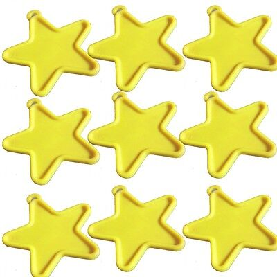 10pcs STAR SHAPE PLASTIC BALLON WEIGHTS For Helium Foil Balloons Pastel Yellow - Helium Balloon Weights