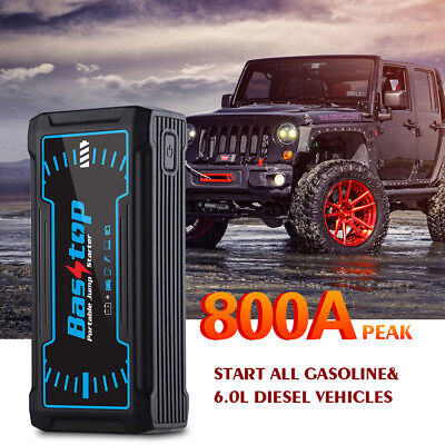 16800mAh 800A Peak Car Jump Starter Truck Battery Charger Power Bank Charging