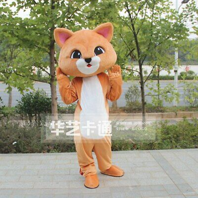 2# Brown Cat Mascot Costume Cosplay Party Game Dress Outfit Halloween Adult 1P - Halloween Costume Brown Guy