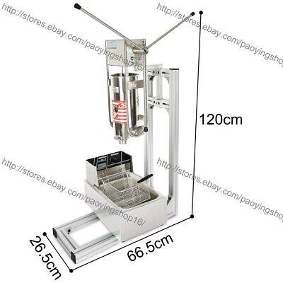 5 Nozzles Heavy Duty 5l Manual Vertical Hollow Churro Fryer Machine Maker