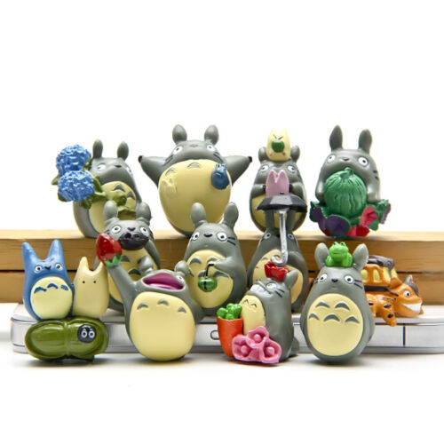 12pcs/set Tonari no Totoro Resin decoration dolls Anime action figure Toy gift