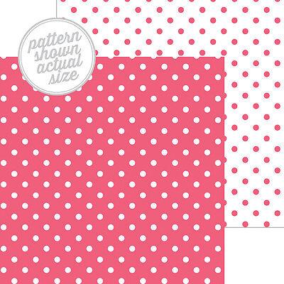 Cherry Scrapbooking Paper - Scrapbooking Crafts 12x12 Paper Doodlebug Cherry Swiss Dot Petite Prints Pink