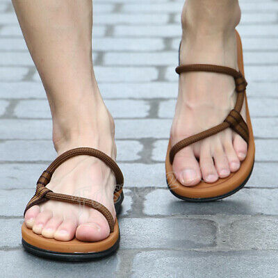 Retro Sandals Mens Casual Sandalias Hombre Gladiator Summer Roman Beach Slipper - Mens Roman Gladiator Sandals
