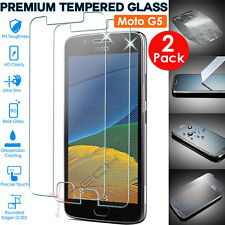2x Genuine TEMPERED GLASS Invisible Screen Protector Cover for Motorola Moto G5