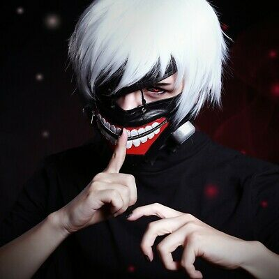 Anime Tokyo STYLE Ghoul Kaneki Ken Adjustable Cosplay Mask Halloween Party Masks (Ghoul Masks Halloween)