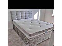 CRUSHED VELVET DELUXE DIVAN BEDS