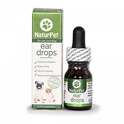 Naturpet Ear Drops Natural Ear Infection Medicine For Dogs Ear Mites Cats Dog