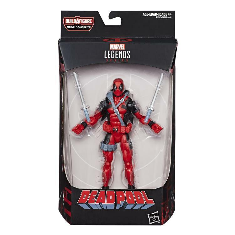 Купить Marvel Toys - Marvel Legends DEADPOOL BAF SASQUATCH Wave 2018 RED DEADPOOL 6Figure In Stock