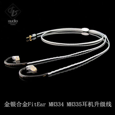 Audio Gold-silver Alloy Headphone Upgrade Cable for FitEar MH334 MH335 JH16PRO