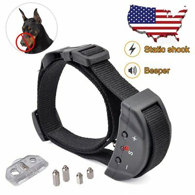 Anti No Bark Shock Dog Trainer Stop Barking Pet Training Control Collar Safety