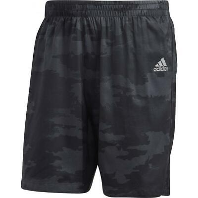 "New adidas Mens 5"" Climalite Run Shorts  Sz S to XL  Black sport gym"