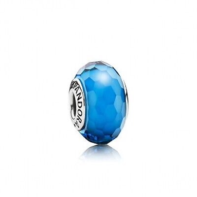Pandora Murano Charm Turquoise Faceted  Bead Sterling Silver S925 ALE 791607