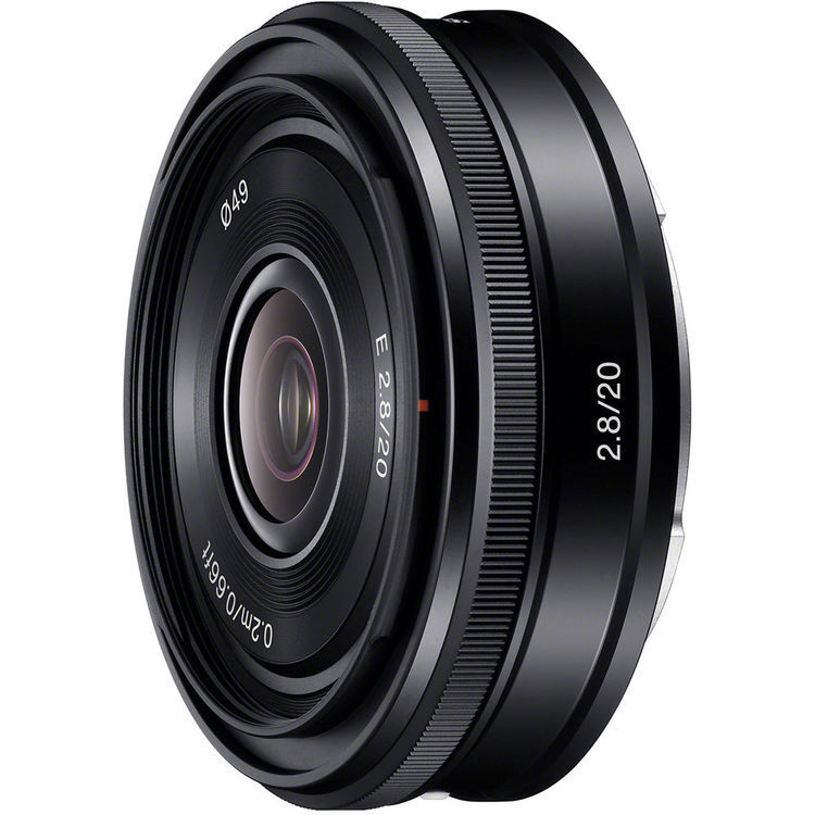 Sony 20mm f/2.8 E-Mount Wide-Angle Lens Black SEL20F28