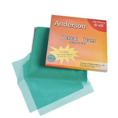 Dental Rubber Dam Sheet Pure Latex Dura Dam 52 Pcs 55 36 Pcs 6 X 6mint